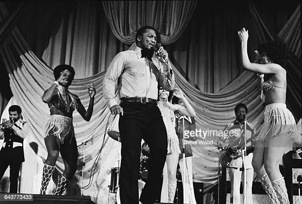 American boxing champion Joe Frazier performs with his soulfunk group Joe Frazier and the Knockouts UK 16th May 1971
