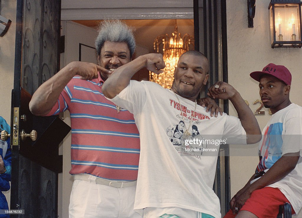 American boxing champion Mike Tyson and boxing promoter Don King in New York City, circa 1992.