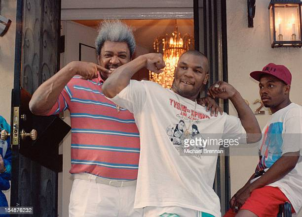 American boxing champion Mike Tyson and boxing promoter Don King in New York City circa 1992