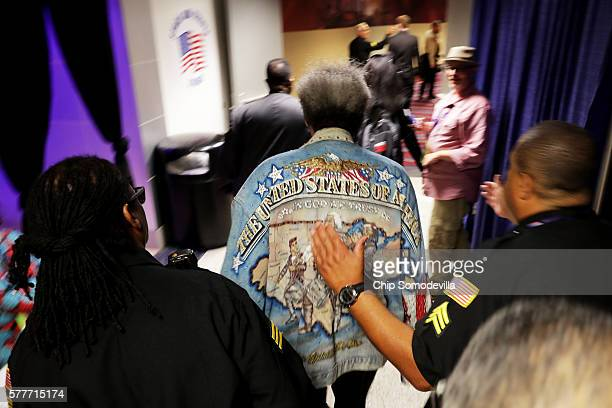 American boxing promoter Don King attends the second day of the Republican National Convention on July 19 2016 at the Quicken Loans Arena in...