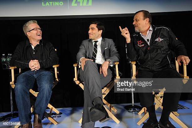 American boxing trainer Freddie Roach Peter Nelson Sampson Lewkowic attend the HBO Latino's Choose Your Esquina 24/7 Cotto/Martinez Event at...