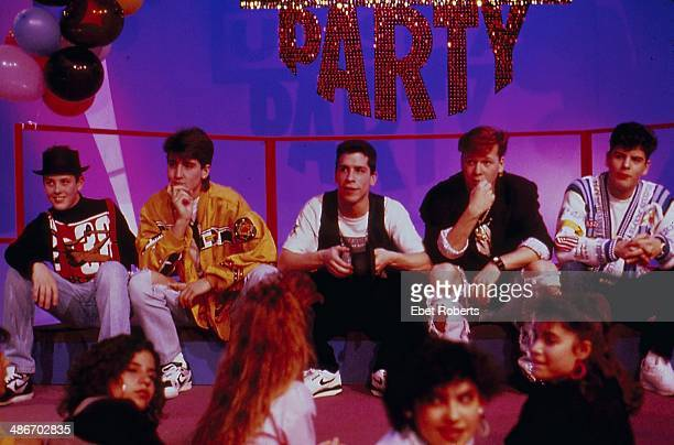American boy band New Kids on the Block appearing on a at Dance Party USA 1989