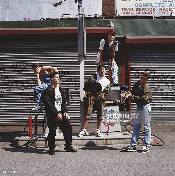 American boy band New Kids On The Block New York City 1985