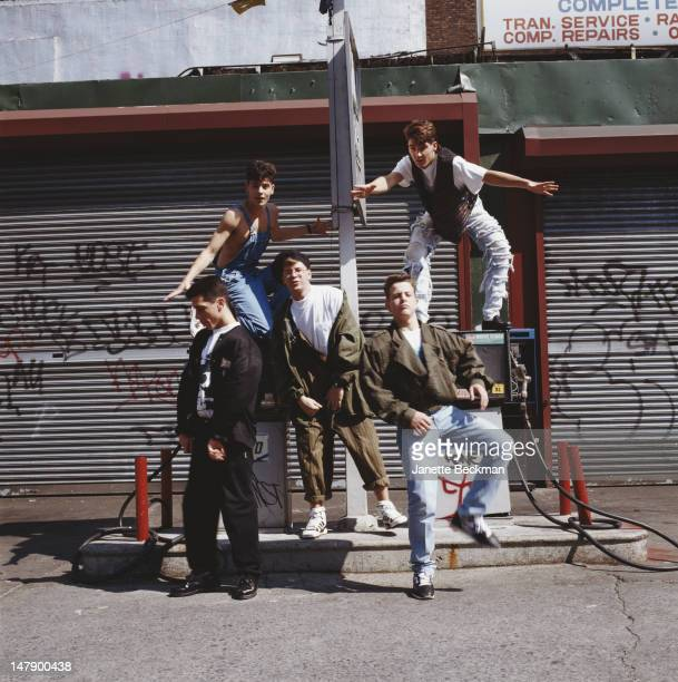 American boy band New Kids On The Block New York City 1985