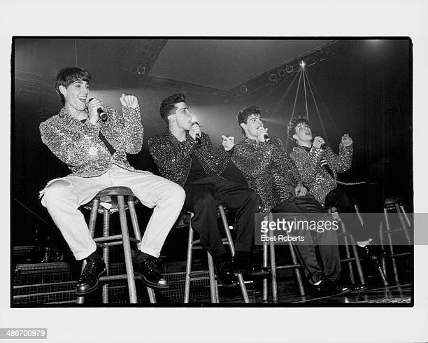 American boy band New Kids on the Block on stage 1990