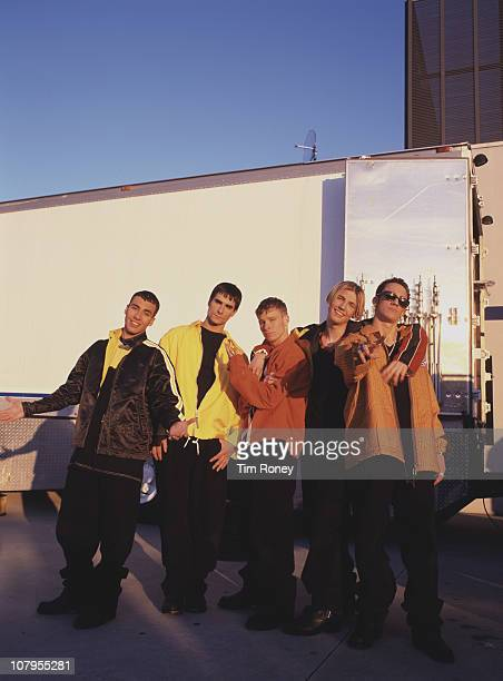 American boy band The Backstreet Boys circa 1997