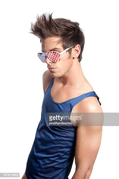 american boy - mesh shirt stock photos and pictures