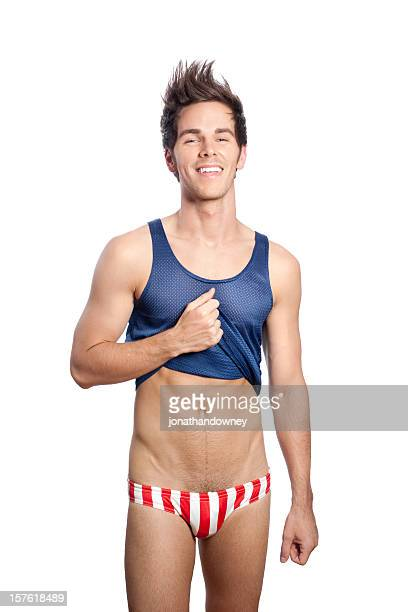 american boy - young men in speedos stock photos and pictures