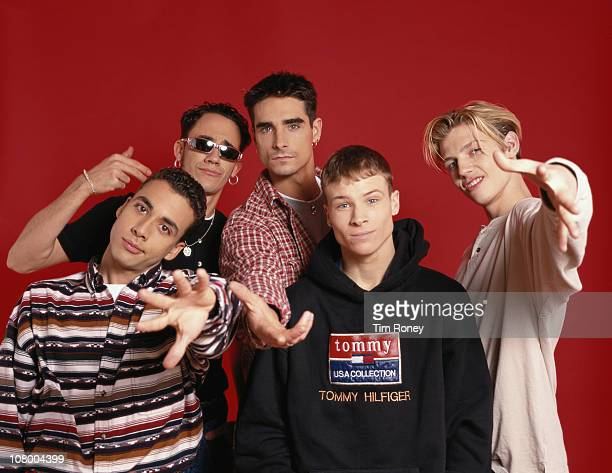 American boyband The Backstreet Boys circa 1995 They are Brian Littrell Nick Carter A J McLean Howie Dorough and Kevin Richardson