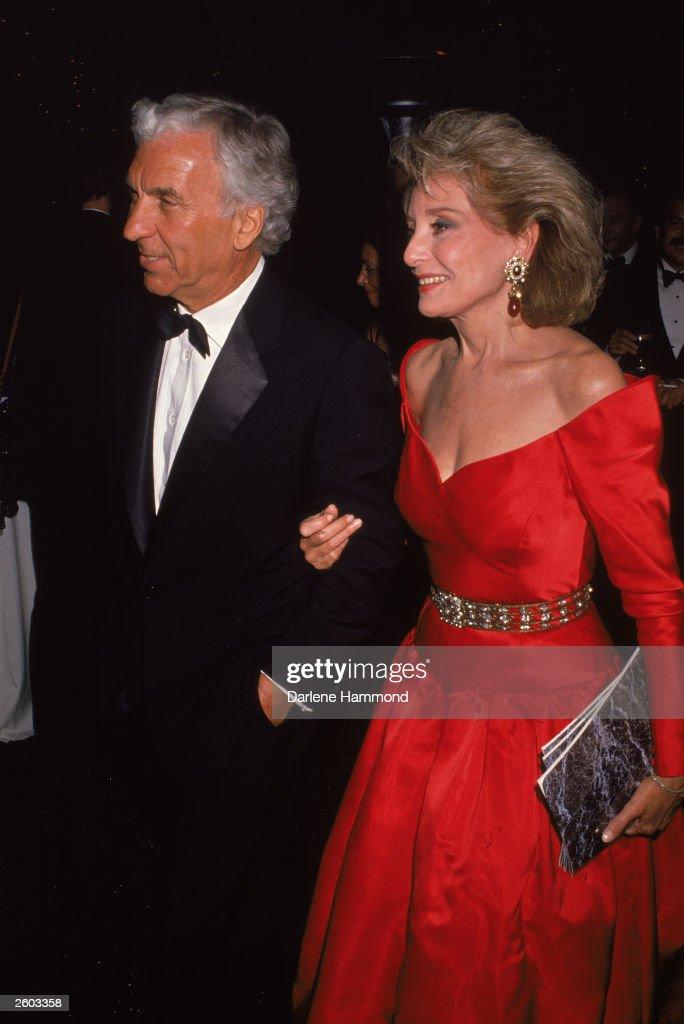 Barbara Walters And Husband Merve Adelson : News Photo