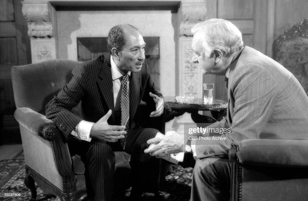 Cronkite Interviews Sadat : News Photo
