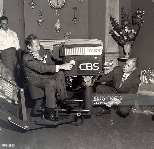 American broadcast network executive William S. Paley , President of CBS radio and founder of CBS television, and network executive Dr. Frank...