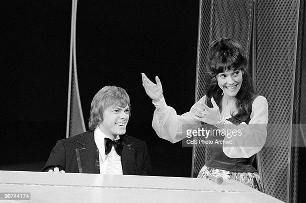 American brother and sister musicians The Carpenters Richard Karen Carpenter appear on an episode of the television comedy variety program 'The Carol...