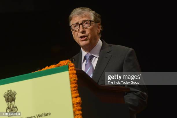American business magnate, Bill Gates clicked at a event in New Delhi.