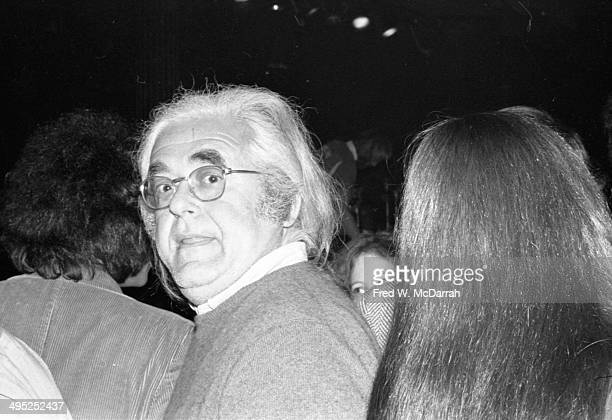 View of an unidentified patron who attends the opening night performance at the Bottom Line music venue New York New York February 12 1974