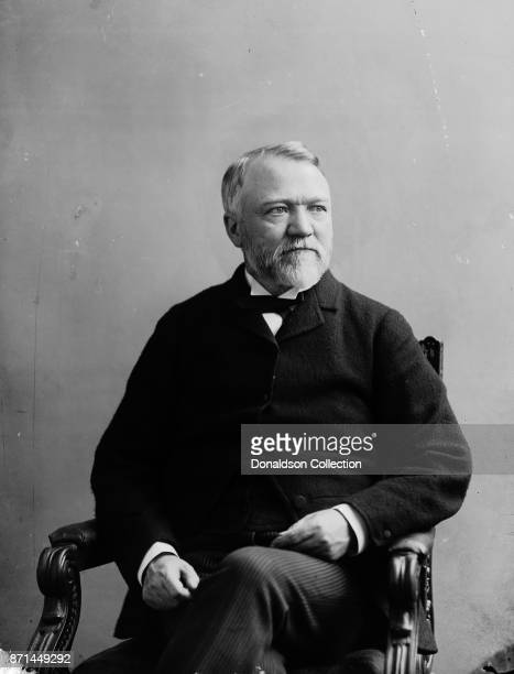 American businessman Andrew Carnegie poses for a portrait in 1865