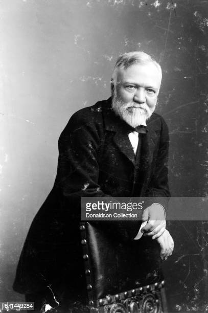 American businessman Andrew Carnegie poses for a portrait in 1896