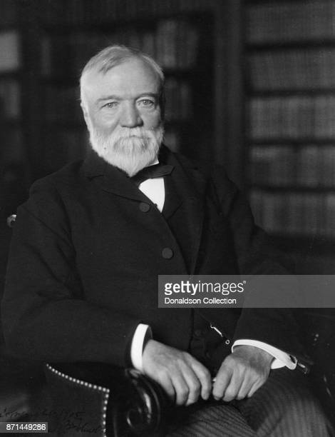 American businessman Andrew Carnegie poses for a portrait in 1905