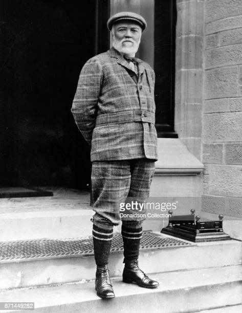 American businessman Andrew Carnegie poses for a portrait in 1910