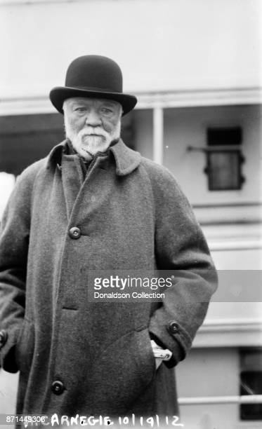 American businessman Andrew Carnegie poses for a portrait in 1912