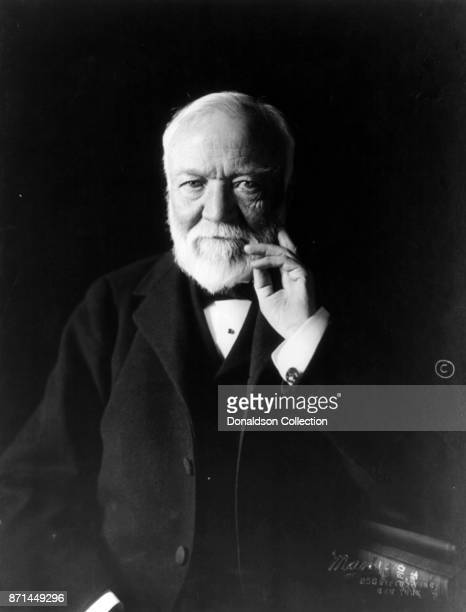 American businessman Andrew Carnegie poses for a portrait in 1913
