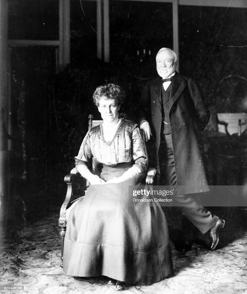 Andrew Carnegie Portrait wtih Wife : News Photo