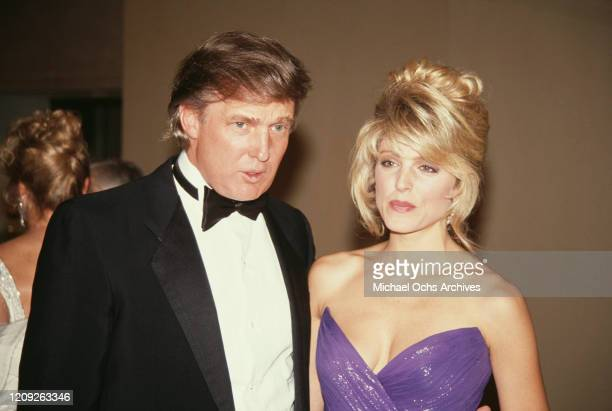 American businessman Donald Trump and American actress Marla Maples attend the 1992 Soap Opera Digest Awards, held at the Beverly Hilton Hotel in...