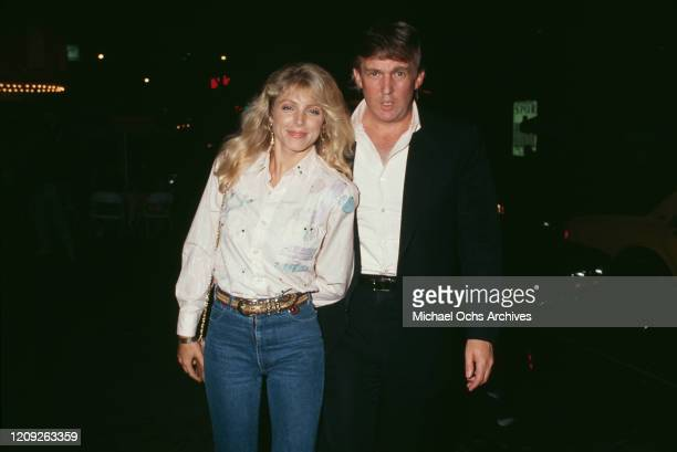 American businessman Donald Trump and American actress Marla Maples attend an event on circa 1992 in New York City New York circa 1992