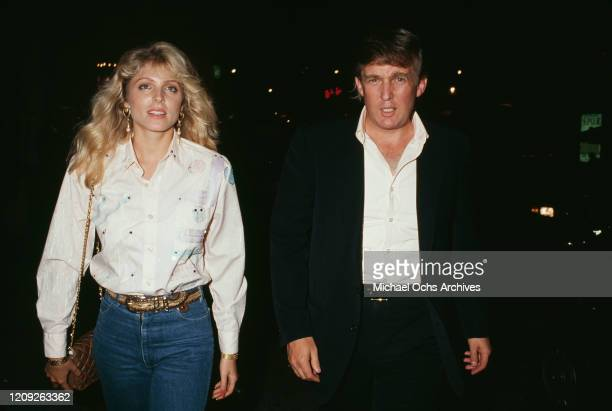 American businessman Donald Trump and American actress Marla Maples attend an event on circa 1992 in New York City, New York, circa 1992.