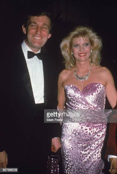 American businessman Donald Trump and his wife Ivana smile