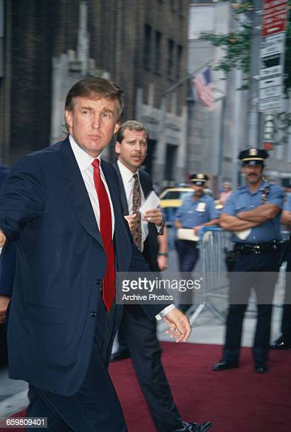 American businessman Donald Trump on a red carpet USA circa 1985