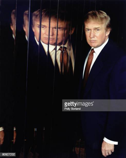 American businessman Donald Trump poses for a portrait shoot in New York 9th January 2001