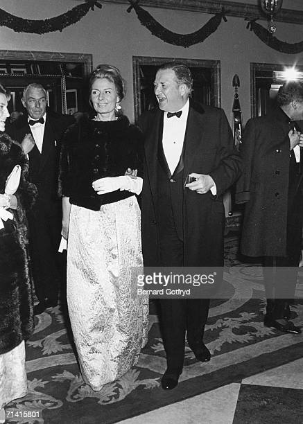 American businessman Henry Ford II and his second wife Cristina arrive at a formal function December 1965 The couple married in 1965 divorced in 1980