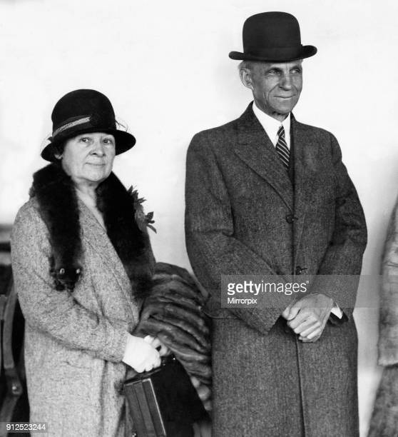American businessman Henry Ford, the founder of Ford Motor Company, arrives at Southampton, England after his crossing from New York aboard the White...