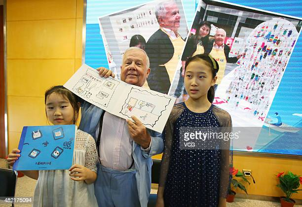 American businessman, investor and author Jim Rogers visits the Oriental Kids Art Education on July 28, 2015 in Nanjing, China.