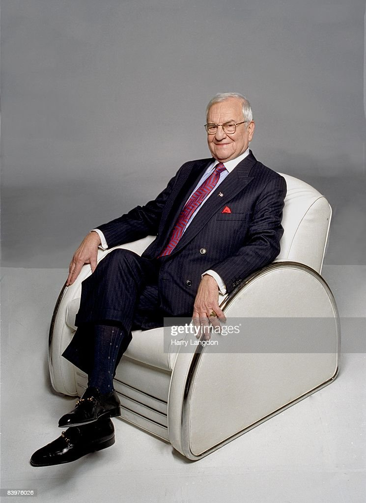 American businessman Lee Iacocca poses for a portrait in 2006 in Los Angeles, California.