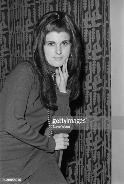 American businesswoman and philanthropist Luci Baines Johnson at Heathrow Airport London UK 26th November 1970