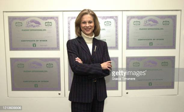 American businesswoman Christie Hefner in her office at Playboy headquarters in Chicago, Illinois USA on November 26, 2003.