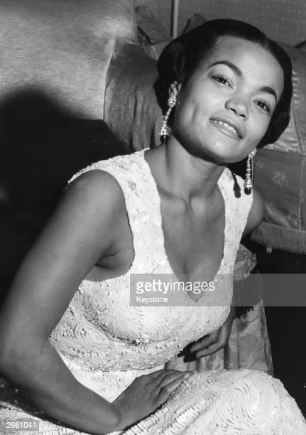 American cabaret singer Eartha Kitt in London Original Publication People Disc HF0684