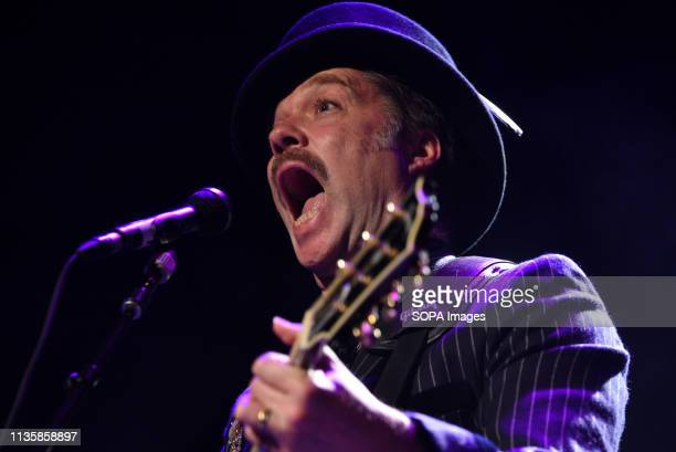 American Canadian singer Rufus Wainwright a 45 yearold is seen performing live during his concert 'All These Poses Tour' at Teatro Nuevo Apolo in...