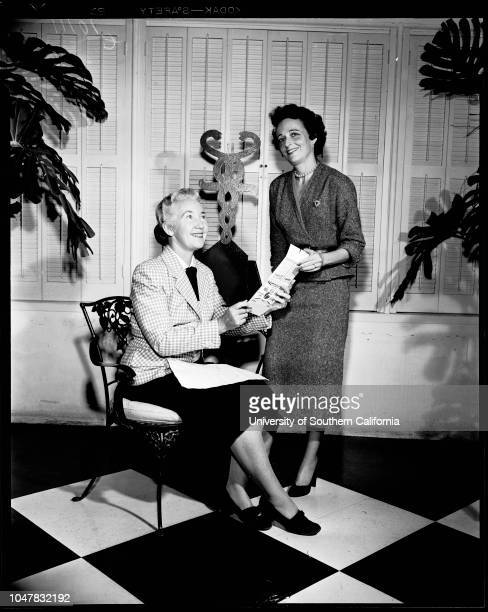 American Cancer Society 26 April 1954 Mrs Alfred T ChamieMrs Mortimer Singer Junior Supplementary material reads 'American Cancer Society 9708 Santa...
