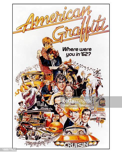 American cartoonist Mort Drucker's poster for 'American Graffiti' directed by George Lucas 1973