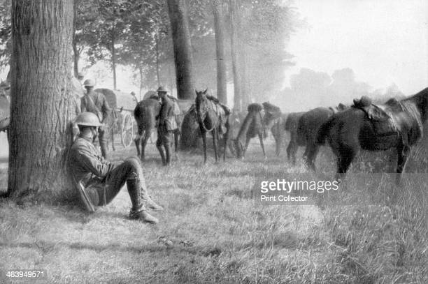 American cavalry unit at rest Chemin des Dames France 1918 A strategically important ridge overlooking the River Aisne the Chemin des Dames was the...