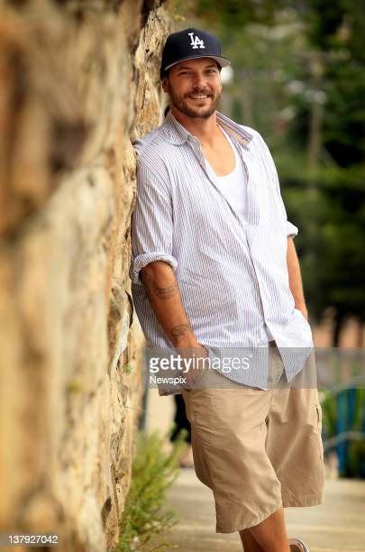 American celebrity Kevin Federline who is in Australia filming the new weight loss television show 'Excess Baggage' poses during a photo shoot at...