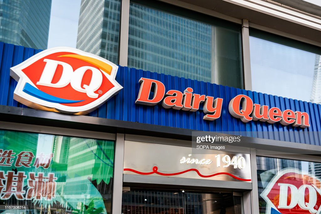 American chain of ice cream and fast-food restaurants Dairy... : News Photo