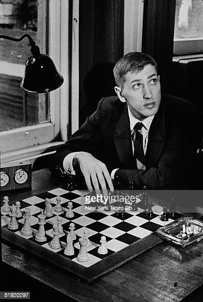 American chess champion and prodigy the controversial and tempermental Bobby Fischer at the Marshall Chess Club in New York August 25 1965