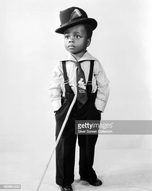 American child actor Billie 'Buckwheat' Thomas in a promotional portrait for the Hal Roach 'Our Gang' comedy film series circa 1935