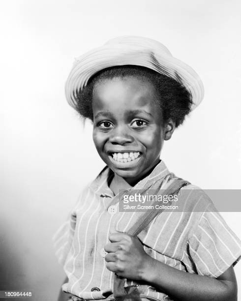 American child actor Billie 'Buckwheat' Thomas in a promotional portrait for the Hal Roach 'Our Gang' comedy film series circa 1936