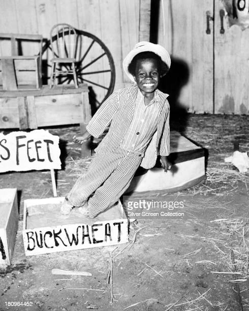 American child actor Billie 'Buckwheat' Thomas in a promotional portrait for the Hal Roach 'Our Gang' comedy film series circa 1938