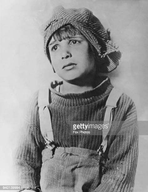 American child actor Jackie Coogan in costume as Tim Kelly in the film 'The Rag Man' 1925